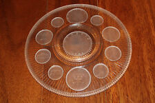 Imperial Glass Corp Crystal Coins 1971 Series Collector Plate Clear Frosted