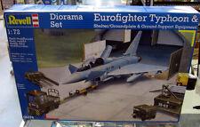 Revell 1/72 Diorama Set Eurofighter Typhoon & Shelter/Groundplate & Support 4376