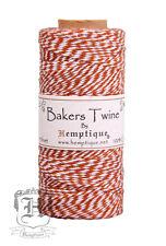 Hemptique Cotton Baker's Twine Light Brown & White 2-Ply 1mm 410 ft 125 m