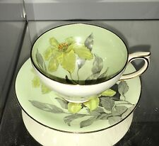 Colorful WINDSOR Bone China Floral Tea Cup and Saucer Set