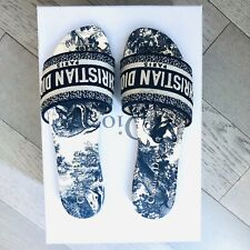 NIB Authentic Christian Dior Embroidered Dway  Slides Size 36 Toile De Jouy 6