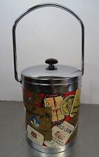 Vintage 50's ice cooler - Eiswürfelbehälter Eis Kühler mit Whisky Werbung 50er