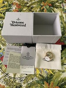 Vivienne Westwood ULYSSES RING GOLD-TONE 100% Authentic. 925 Silver