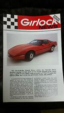 1984 Corvette Sales Feature Rare Girlock Brake Bullitin