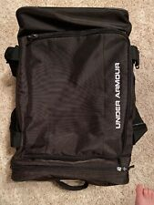 NEW!! Under Armour Black Rolling Trolley Carry On Luggage Duffel Travel Bag UA