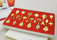 12pcs big Fairy Tail LUCY Celestial Keys set COSPLAY GIFT BOX