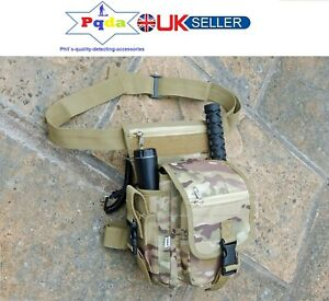 PQDA. Metal Detecting Finds Bag/Pouch,Heavy Duty,Eyelets,Probe & Trowel Pockets.