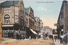 WALES Postcard BARRY DOCK Holton Road Wales Boot Market Valentine Series UK