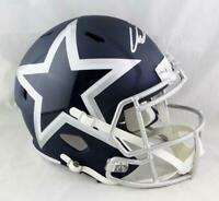 CeeDee Lamb Autographed Dallas Cowboys F/S AMP Speed Helmet - Fanatics Auth