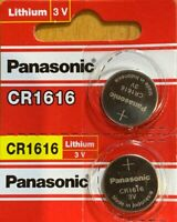 2 Panasonic CR1616 ECR 1616 Battery 3V Authorized seller. Exp. 2029 USA Ship.