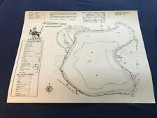 Clarkson Map Co Topographical Fishing Bass Lake Barron County Wisconsin 14 X 11