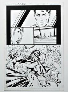 Superman / Batman #49 Page 5 Original Art Batman Battle Splash By Shane Davis