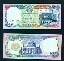 AFGHANISTAN  - 1993 5000 Afghanis UNC Banknote
