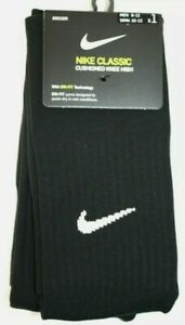 Nike Classic Cushioned Knee High Soccer Sock SET OF 2  PAIRS SX5728-010 Size LG