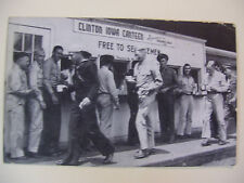 "Black&White Real Photo Clinton Iowa Canteen ""Free To Servicemen"" Postcard"