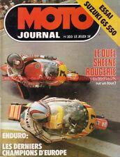 MOTO JOURNAL  323 SUZUKI GS 550 ; Takazumi Katayama Le Castellet GP de SPA 1977