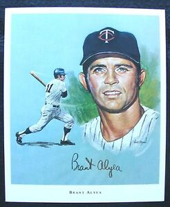 1970 BRANT ALYEA MINNESOTA TWINS SUPER VALU PORTRAIT EX-MT