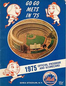 1975 NEW YORK METS vs PITTSBURGH PIRATES  baseball program