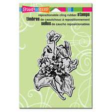STAMPENDOUS RUBBER STAMPS CLING LOVELY VIOLETS FLOWER NEW cling STAMP