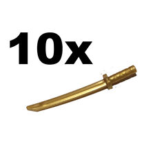 NEW LEGO - Weapon - sword - Katana / Shamshir Pearl Gold x 10 Ninja Ninjago