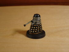 Doctor Dr Who Black Gold Silver Dalek, Head Rotates Metal Miniature Painted Fasa