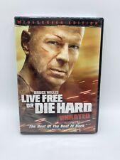 Live Free or Die Hard (Dvd, 2007, Widescreen) New Includes Unrated & Theatrical