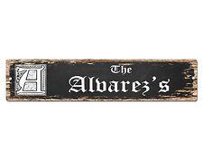SP0738 The ALVAREZ'S Family name Sign Bar Store Shop Cafe Home Chic Decor Gift