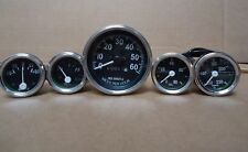 Willys MB Jeep Ford CJ GPW Gauges Kit - Speedometer 60 mph Temp Oil Fuel Ampere