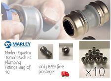 10mm Push Fit Straight raccordi idraulici si adatta qualsiasi 10mm di tubo in rame o plastica
