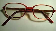 "Vintage Women Amber ""Mocha"" Rectangle Uptown Eyeglasses"
