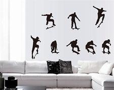 Skate Skateboarding Skater Boy Removable Wall Sticker Decoration Decal 1Pcs