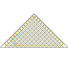 90 Degree Triangle 16cm Quilting Patchwork Ruler Premium Rotary Craft Metric