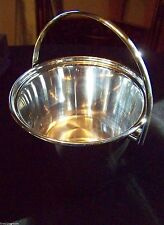 TRADITIONAL SILVER BAR ICE BUCKET - PAIL FORM WITH SWINGING HANDLE