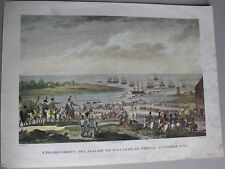 3- ANCIENNE GRAVURE ESTAMPE BATAILLE DE HOHENLINDEN 1800 BOVINET XIX EME