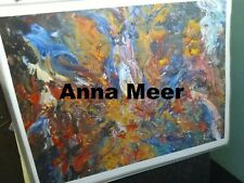 Original Art Print 8x10 abstract painting 'Candle' by Anna Meer FREE SHIPPING