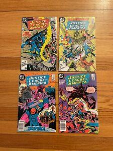 Justice League of America #251 #252 #253 #254 DC COMICS 1986 VF/NM k