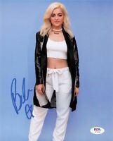 Bebe Rexha signed 8x10 photo PSA/DNA Autographed