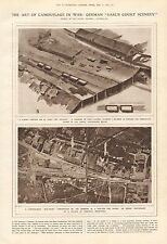 "1919 ANTIQUE PRINT- ART OF CAMOUFLAGE, GERMAN ""EARL'S COURT SCENERY"""