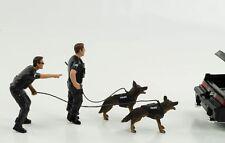 1:24 Figur Police K9 Zoll Polizei Mann mit Hund Set Figuren American Diorama no