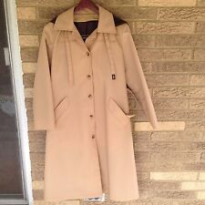 NEW Vintage 80s Deadstock Womens 6 Petite London Fog Raincoat Overcoat Trench