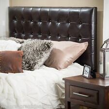 Bedroom Furniture King to Cal King Brown Tufted Leather Headboard