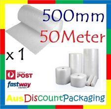 500mm x 50M Bubble Cushioning Wrap Roll Clear 10mm P10 1x ROLL