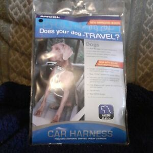 THIS IS A FAB -ANCOL Size L Black Dog Car Harness - Travel , WALKING ETC