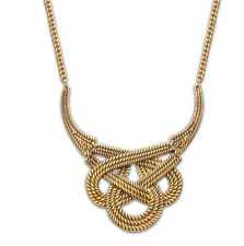 Large Chunky Gold Knot Statement Necklace