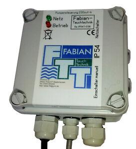 ES 230 Pumpensteuerung IP 54 , Niveausteuerung, Entwässerung für  Außen mit Hupe
