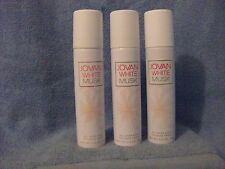 WHITE MUSK  BY JOVAN FOR WOMEN ALL OVER BODY SPRAY, 2.5 oz EA X 3