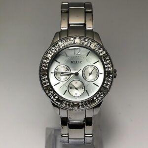 Relic Womens ZR15739 Silver Dial Quartz Analog Stainless Steel Wristwatch