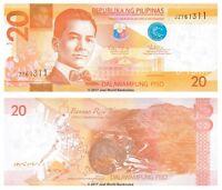 Philippines 20 Piso 2012 P-206 Banknotes UNC