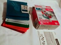 "Imation Neon MAC Formatted 2 HD 1.4 MB 3.5"" Diskettes 6 NEW NOS Computer"