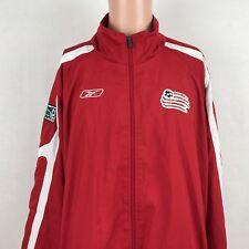 Reebok New England Revolution Windbreaker Jacket XL MLS Soccer Retro Logo Sewn